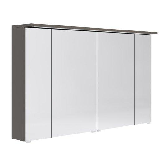 Armoire de toilette lumineuse l. 120 cm, gris Opale | Leroy Merlin