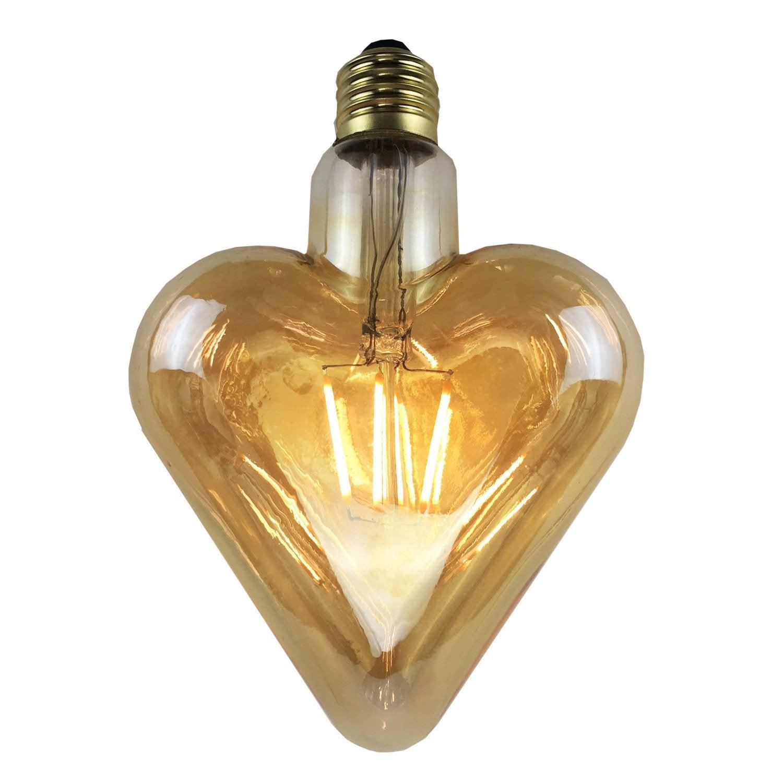 ampoule filament led coeur e27 4w 380lm quiv 35w 2700k leroy merlin. Black Bedroom Furniture Sets. Home Design Ideas