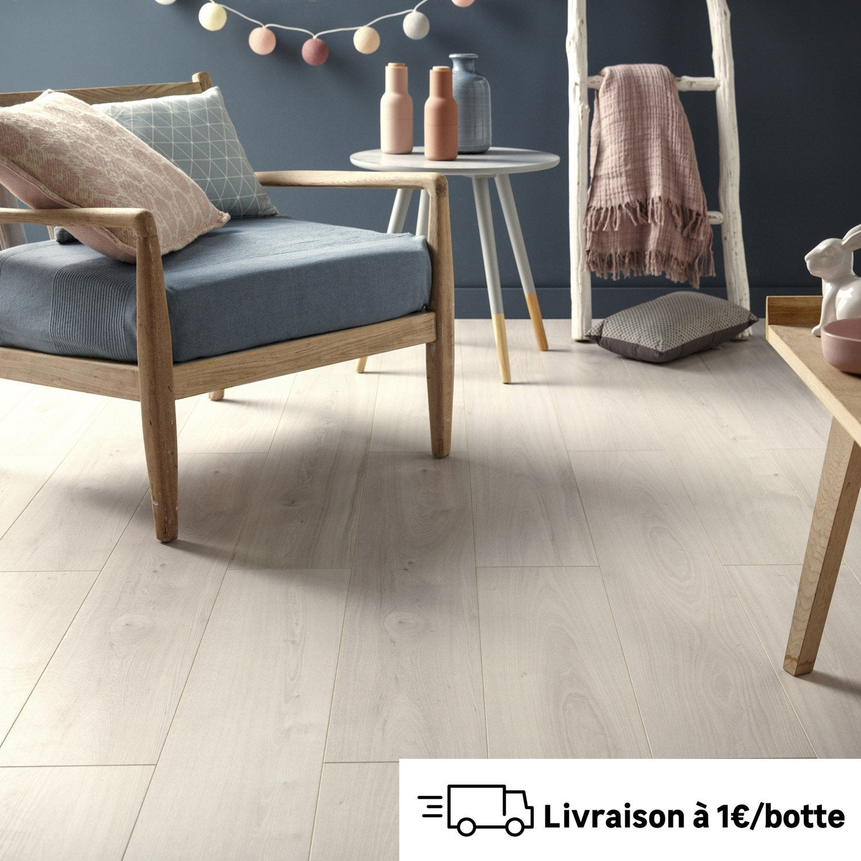 sol stratifi effet orme blanc mm premium xxl leroy merlin. Black Bedroom Furniture Sets. Home Design Ideas