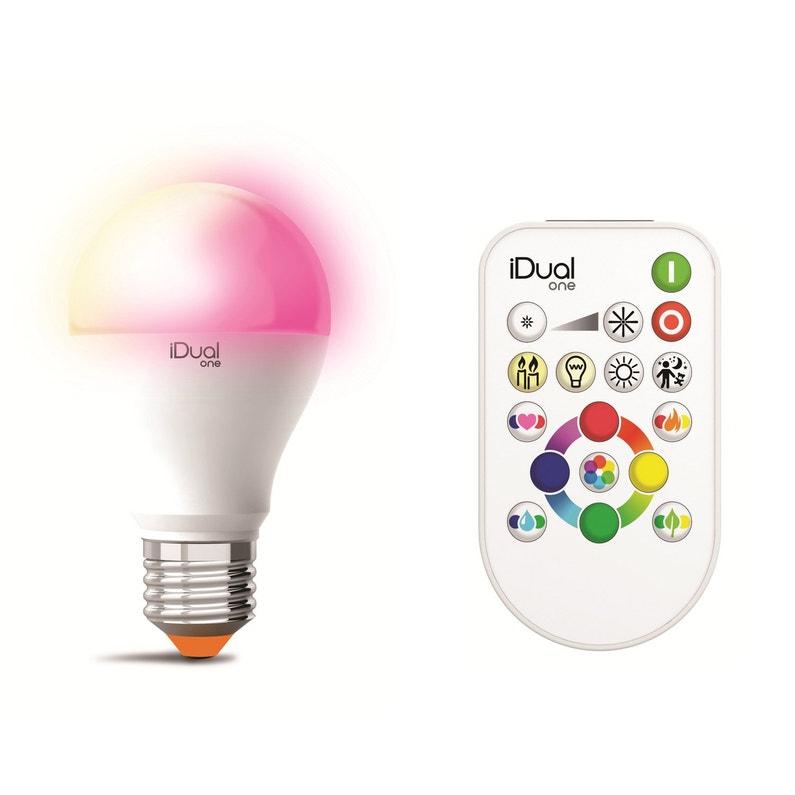 Ampoule Intelligente Led Dépoli Standard E27 806 Lm Couleur Changeante Lexman