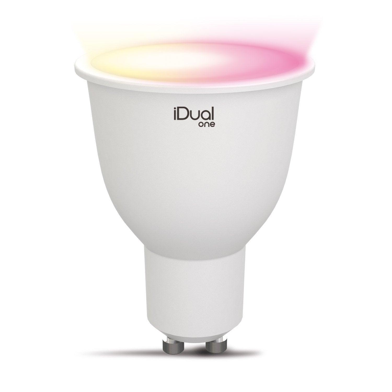 ampoule led lexman pour spot gu10 changement de couleurs. Black Bedroom Furniture Sets. Home Design Ideas