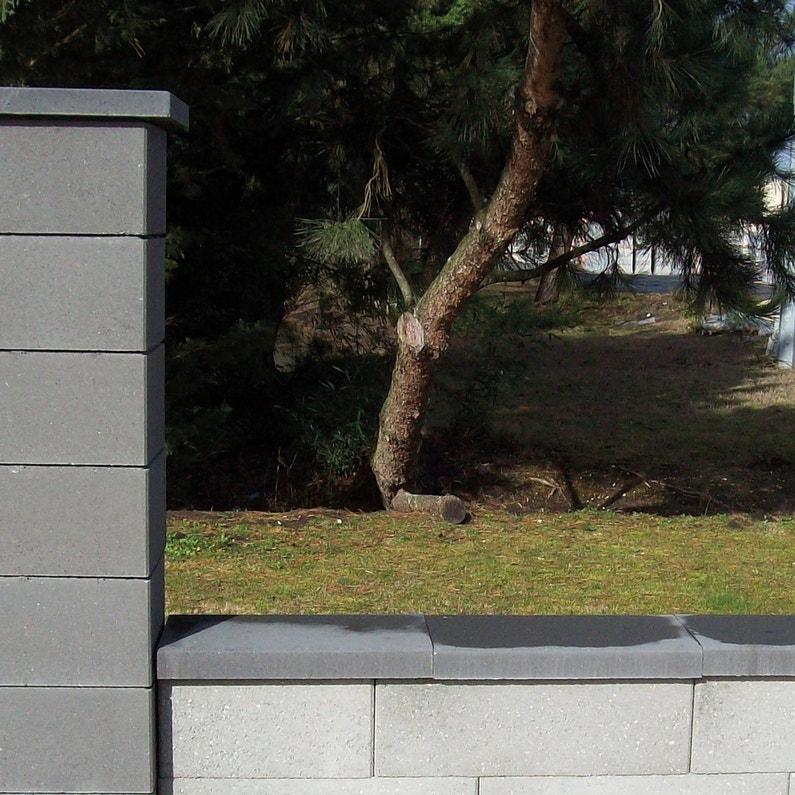 Couvre Mur Plat Lisse Gris H5 X L30 X P30 Cm