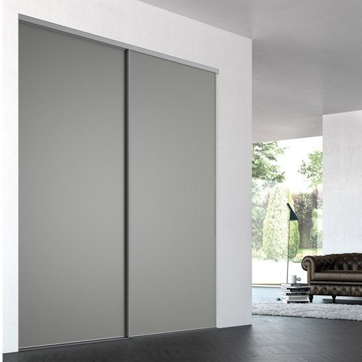 Top porte de placard coulissante surmesure iliko classic - Castorama porte coulissante verre ...
