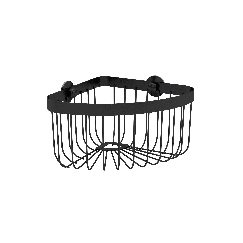 Panier de bain / douche d'angle à ventouser, black 0, Neo