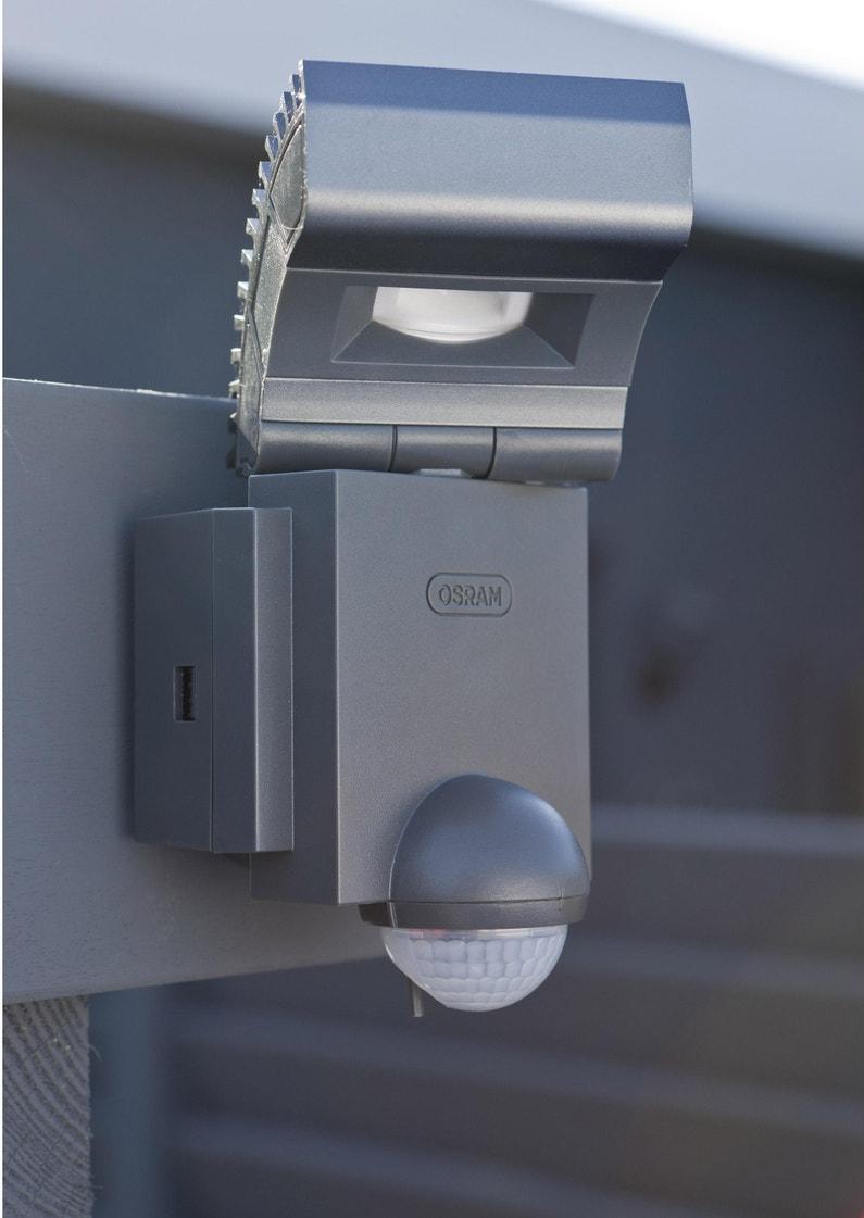 Eclairage Exterieur Mural Puissant projecteur à fixer à détection extérieur led intégrée 8w=430lm,anthracite