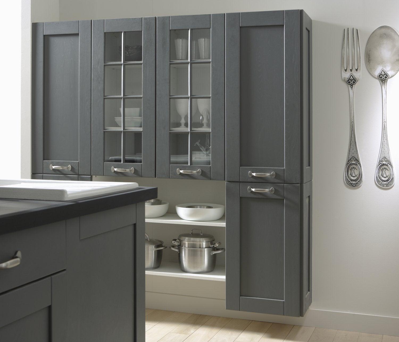 une cuisine en bois grise | leroy merlin