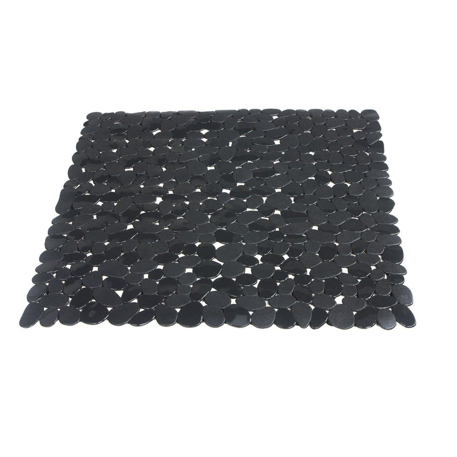 tapis antid rapant gris pour douche stone sensea leroy merlin. Black Bedroom Furniture Sets. Home Design Ideas