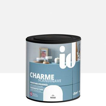 Peinture pour meuble, objet et porte, poudré, ID, Charme, neige 0.5 l
