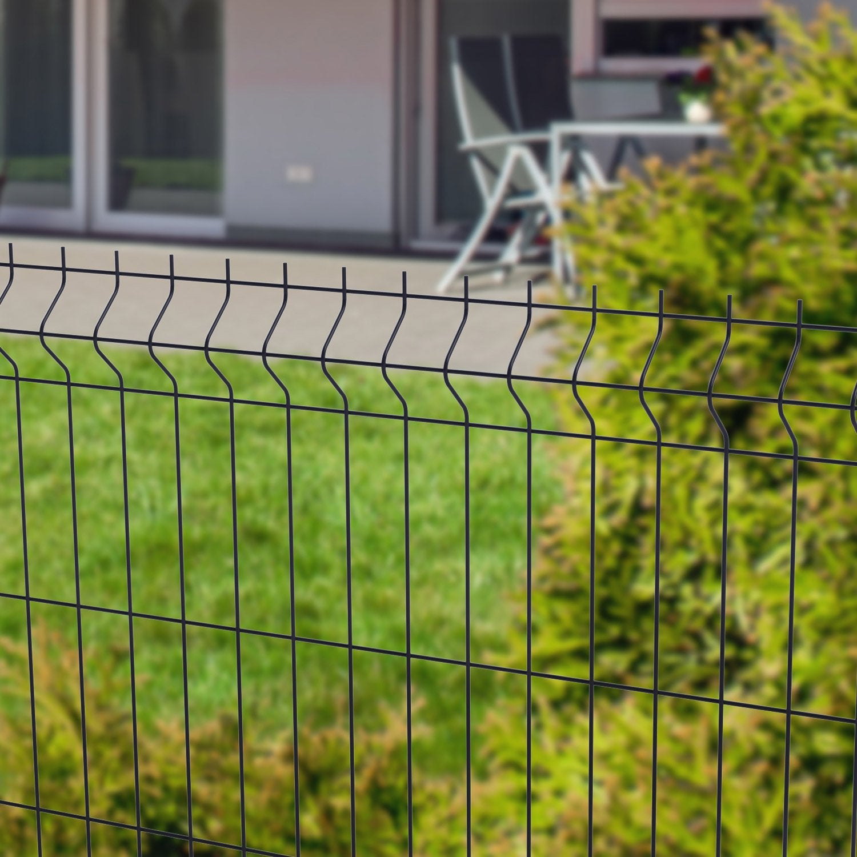 grillage panneau soud arista eco gris h x l. Black Bedroom Furniture Sets. Home Design Ideas