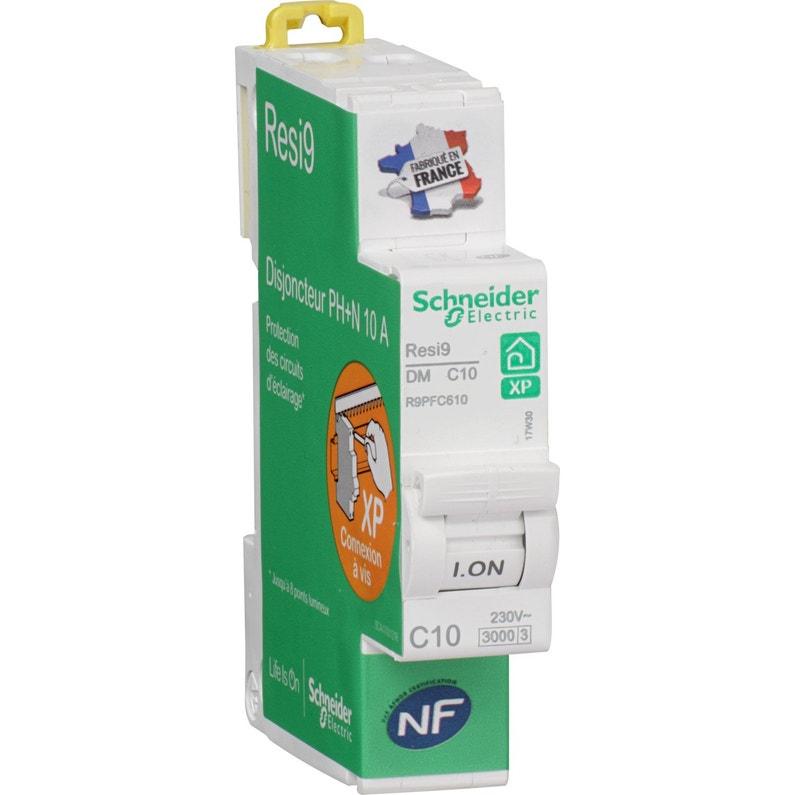 Disjoncteur Phase Neutre Schneider Electric 10 A
