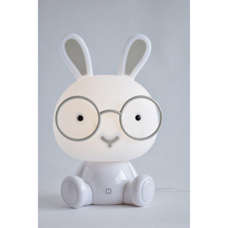 Lampe Veilleuse Enfant Pvc Blanc Tactile Seynave Bunny