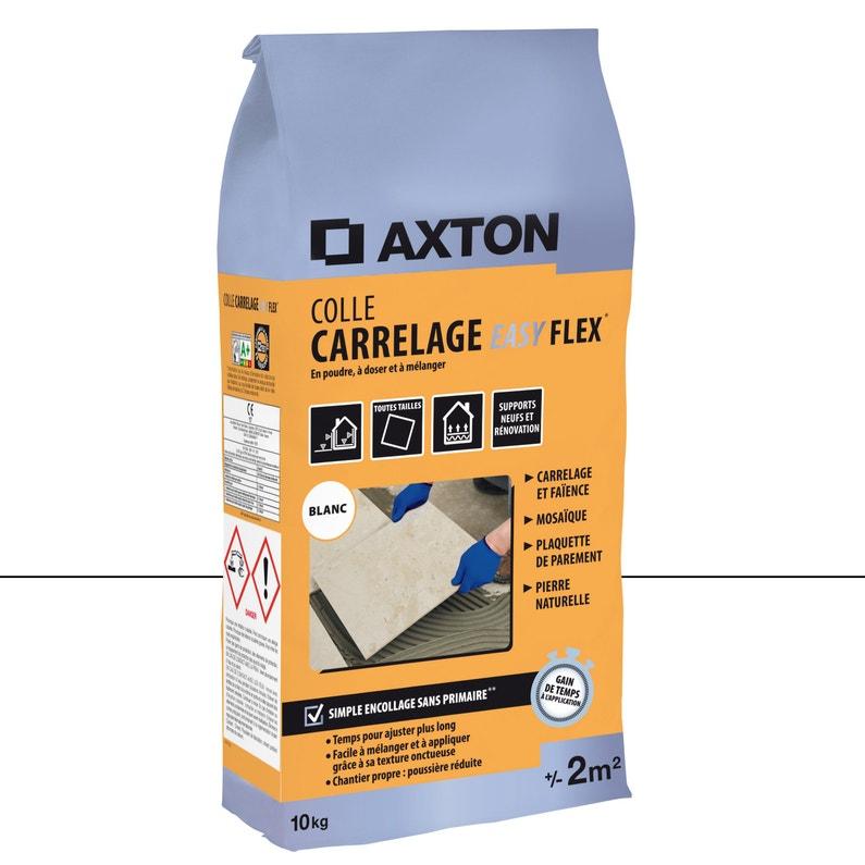 Mortier Colle Poudre Axton Easy Flex Blanc 10 Kg 2 M²