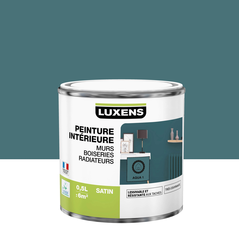 Peinture mur, boiserie, radiateur Multisupports LUXENS aqua 1 satiné 0.5 l