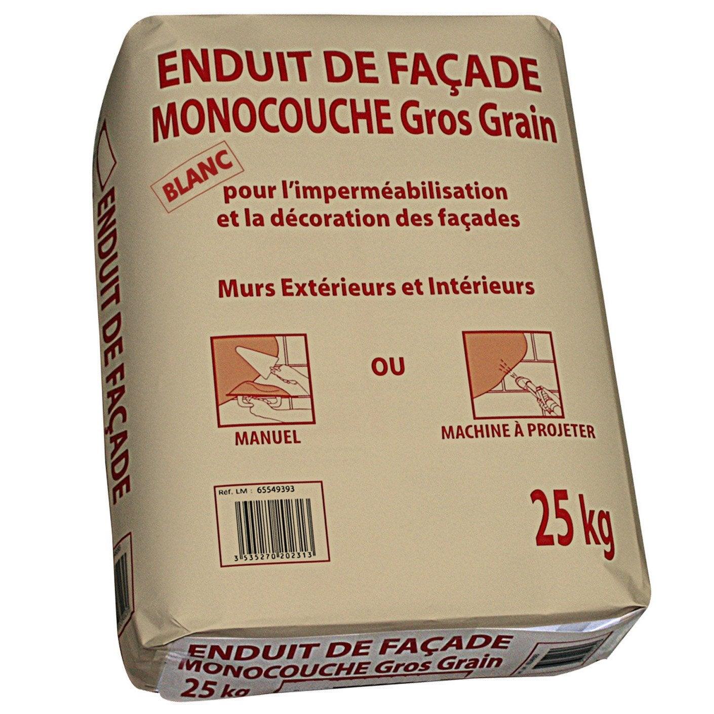 Enduit monocouche blanc prb 25 kg leroy merlin for Type d enduit exterieur