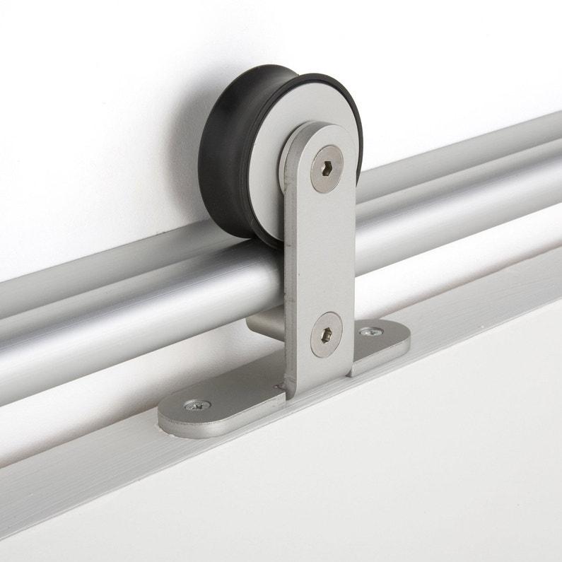 Rail Coulissant Bolero 2 Aluminium Pour Porte De Largeur 93 Cm Maximum