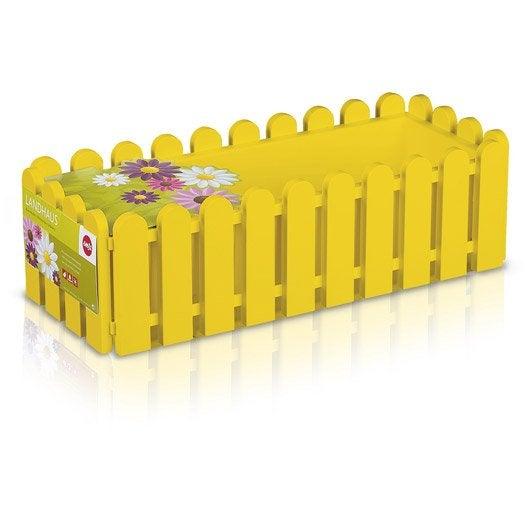 Jardini re plastique emsa x x cm jaune for Jardiniere en plastique