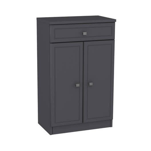 Salle De Bain Galice ~ meuble bas galice gris l50xh82xp31cm 1 tiroir 2 portes leroy merlin