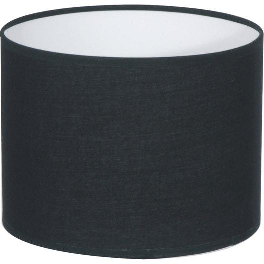 abat jour tube 35 cm coton noir n 0 inspire leroy merlin. Black Bedroom Furniture Sets. Home Design Ideas