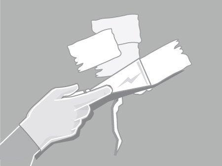 Supérieure Appliquez, Avec Un Couteau à Enduire, Un Enduit De Rebouchage Sur Les  Fissures Ou Sur Les Trous. Lissez Lu0027enduit Pour éviter Toute Surépaisseur  Puis ...