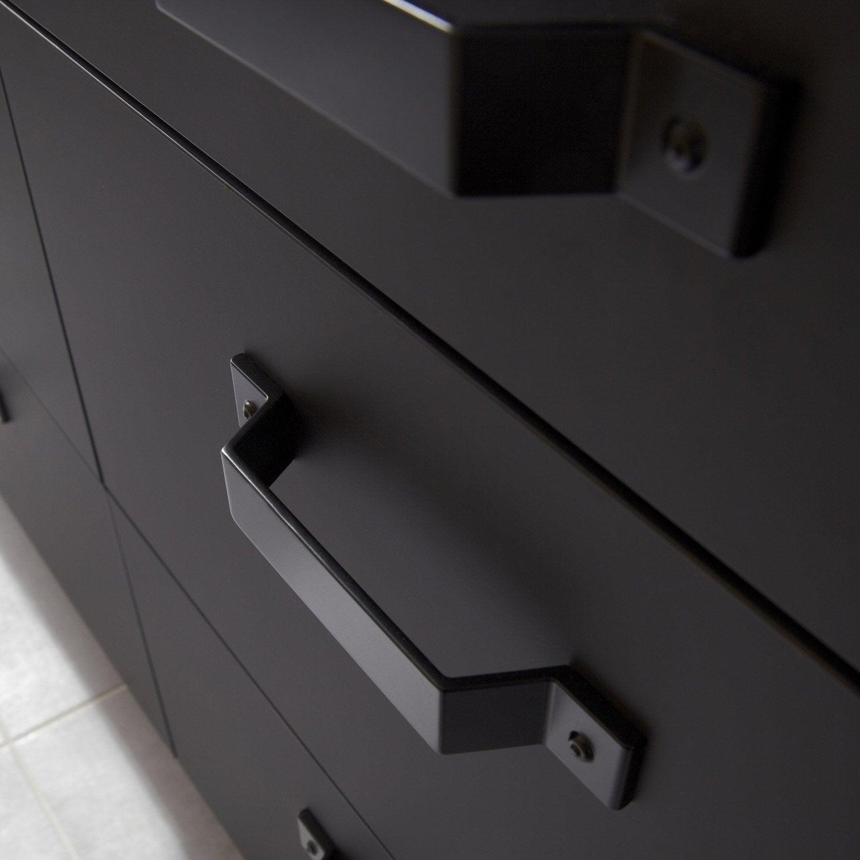 porte sous-évier de cuisine noir mat edition, l.45 x h.54 cm | leroy