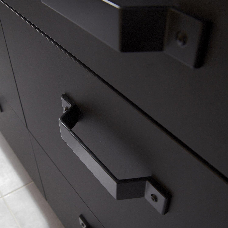 porte sous vier de cuisine noir mat edition x cm leroy merlin. Black Bedroom Furniture Sets. Home Design Ideas