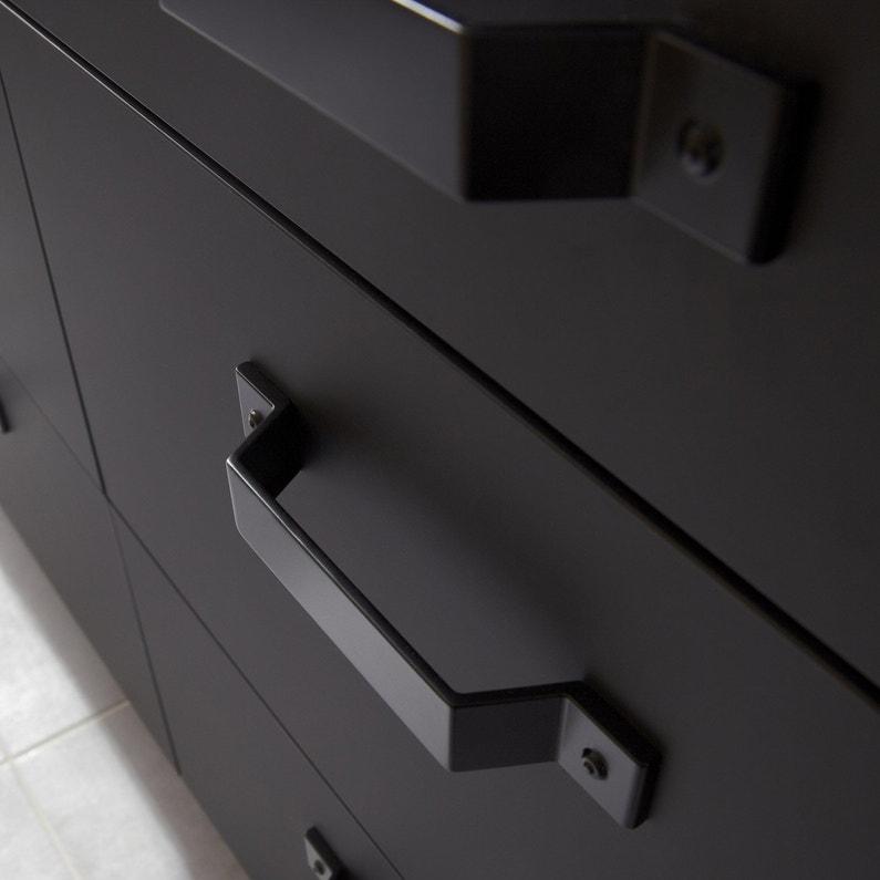 Porte Sous Evier De Cuisine Noir Mat Edition L 45 X H 54 Cm Leroy