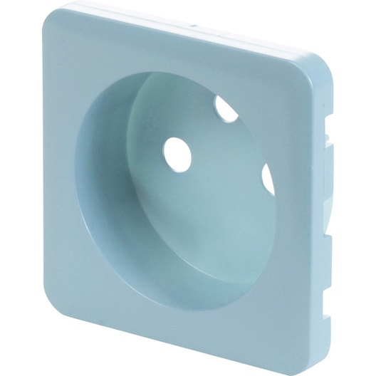 cache prise avec terre cosy lexman bleu baltique n 3 mat leroy merlin. Black Bedroom Furniture Sets. Home Design Ideas