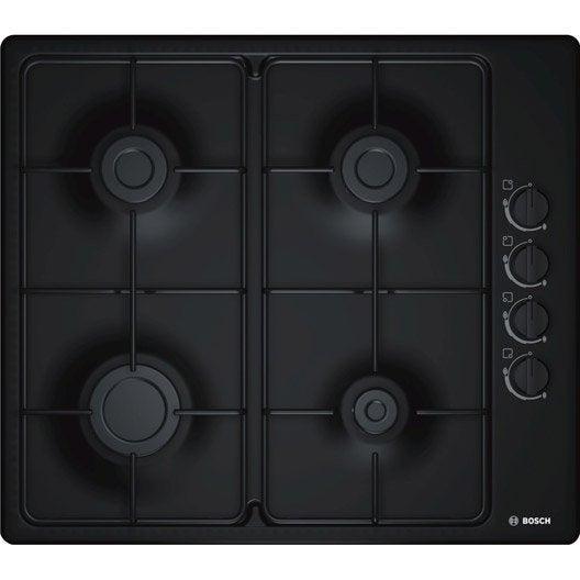 plaque de cuisson gaz 4 foyers noir bosch pbp6b6b80 leroy merlin. Black Bedroom Furniture Sets. Home Design Ideas