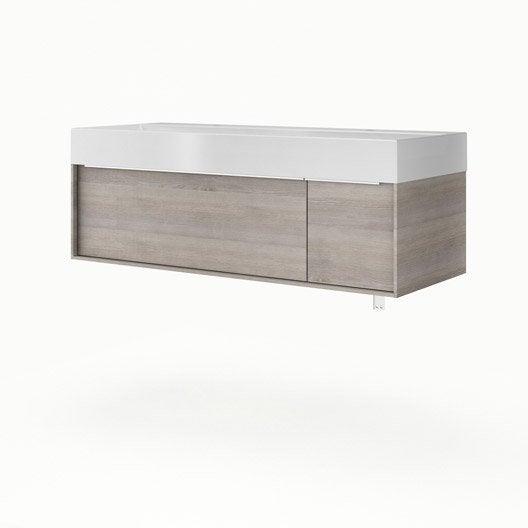 Meuble vasque 120 cm neo frame leroy merlin - Meuble sous vasque 120 cm ...