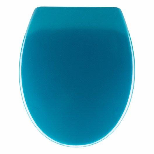 abattant frein de chute d clipsable bleu plastique thermodur sensea klik leroy merlin. Black Bedroom Furniture Sets. Home Design Ideas