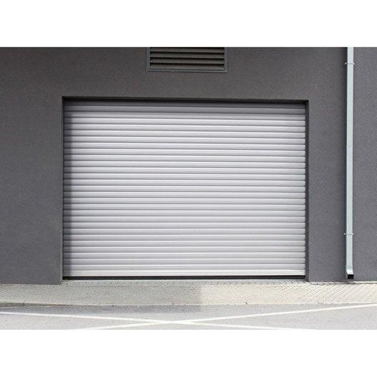 Porte de garage enroulement porte de garage motoris e au meilleur prix leroy merlin - Porte de garage enroulable motorisee sur mesure ...