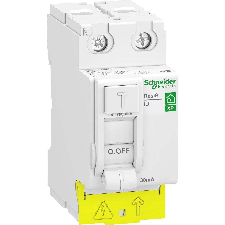 Interrupteur diff rentiel schneider electric 30 ma 25 a - Differentiel type a ou ac ...