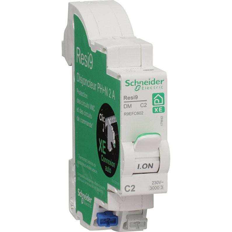 Disjoncteur Phase Neutre Schneider Electric 2a