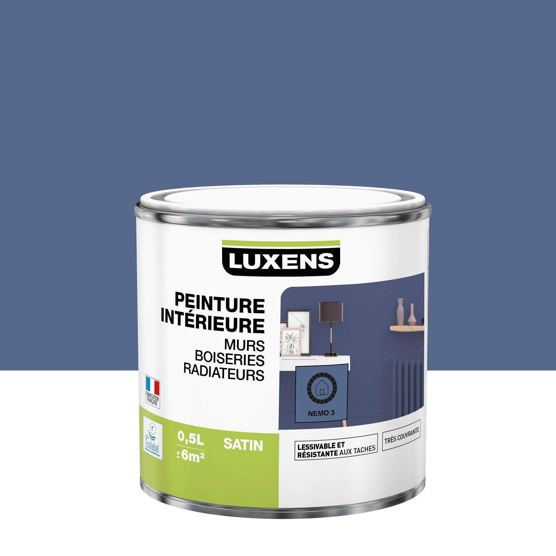 Peinture mur, boiserie, radiateur Multisupports LUXENS nemo 3 satiné 0.5 l