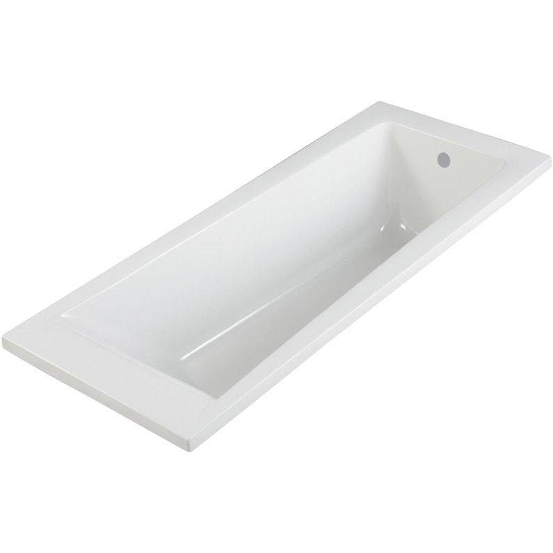 Baignoire Rectangulaire L160x L70 Cm Blanc Sensea Access Design