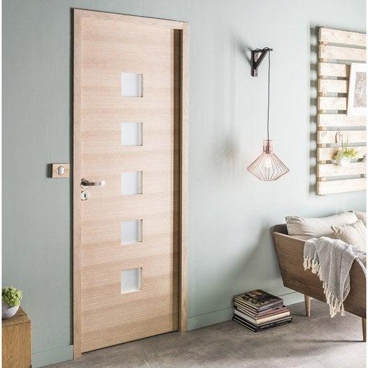 bloc porte ch ne plaqu ch ne leo artens x cm poussant droit leroy merlin. Black Bedroom Furniture Sets. Home Design Ideas