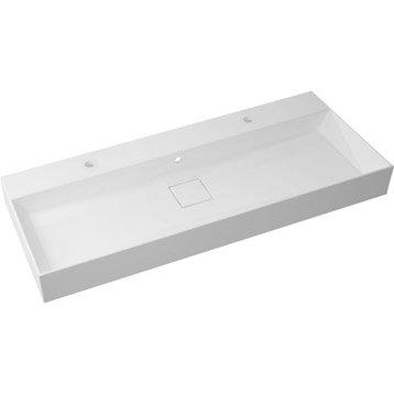 Plan vasque simple Pure Marbre de synthèse 120 cm