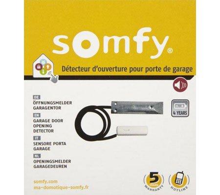 D tecteur d 39 ouverture de porte de garage connect somfy for Branchement porte garage electrique