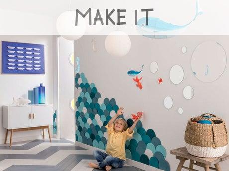 diy r aliser une d coration murale avec du li ge leroy merlin. Black Bedroom Furniture Sets. Home Design Ideas