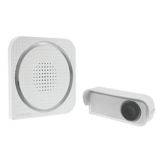 Carillon sans fil enfichable et flash EVOLOGY, blanc
