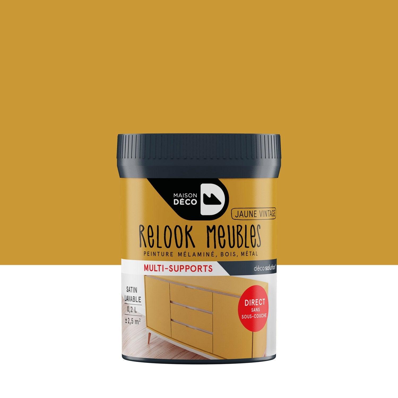 Incroyable Peinture Pour Meuble, Objet Et Porte, Satiné, MAISON DECO, Jaune Vintage  0.2 ...