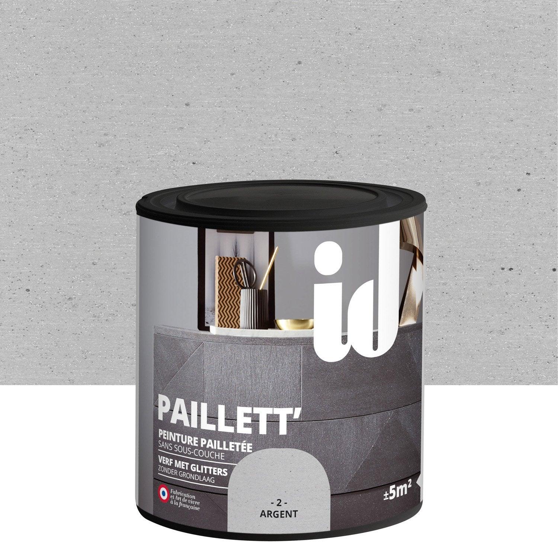 Peinture Pour Meuble, Objet Et Porte, Pailleté, ID, Paillett, Argent 0.5