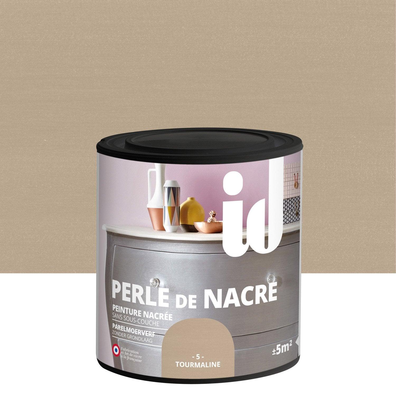 peinture pour meuble objet et porte id perle de nacre tourmaline 0 5 l leroy merlin. Black Bedroom Furniture Sets. Home Design Ideas