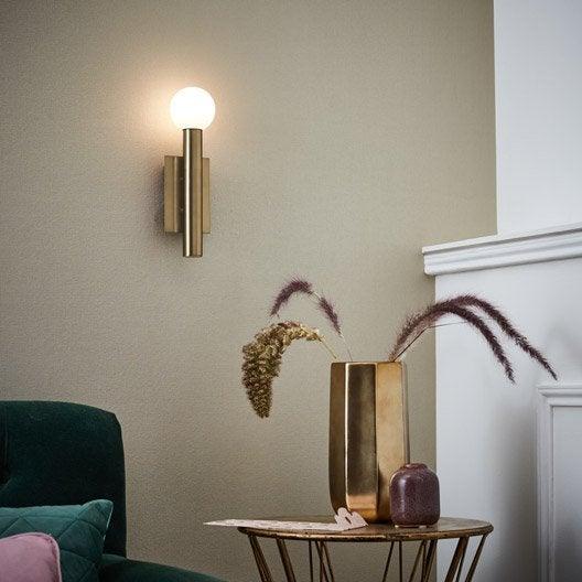 applique vintage g9 lucky m tal laiton bross 1 brilliant leroy merlin. Black Bedroom Furniture Sets. Home Design Ideas