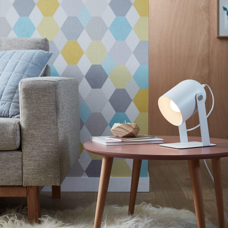 Lampe, scandinave, métal blanc, BRILLIANT Yan