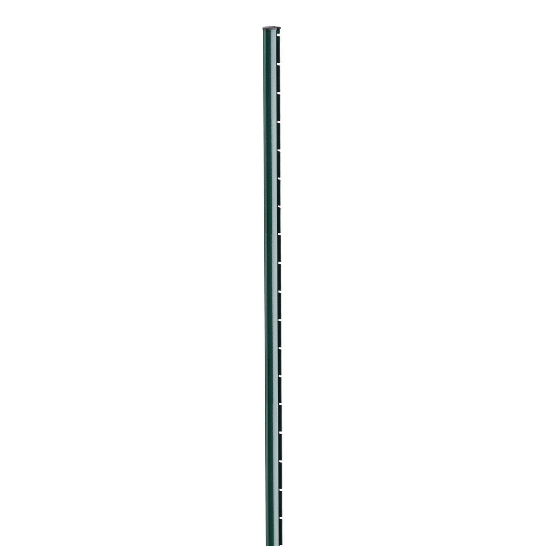 poteau acier galvanis encoche axor vert x l 4 8 x p 6 8 cm leroy merlin. Black Bedroom Furniture Sets. Home Design Ideas