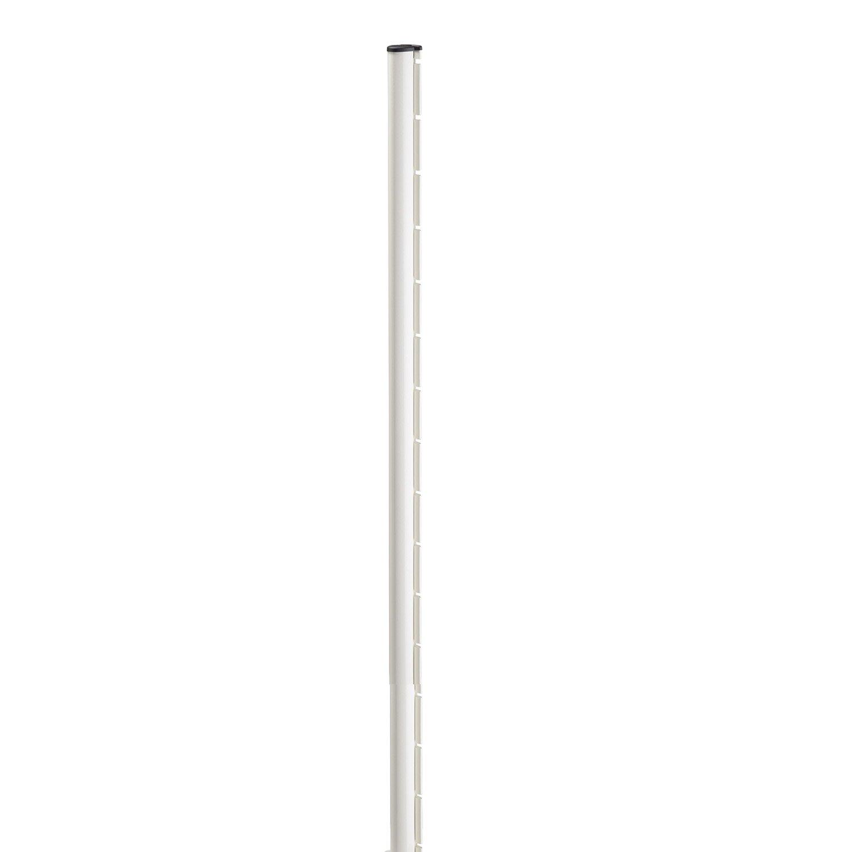 poteau acier galvanis encoche axor blanc x l 4 8 x p 6 8 cm leroy merlin. Black Bedroom Furniture Sets. Home Design Ideas