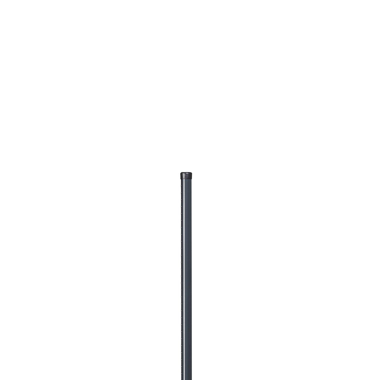 poteau acier galvanis rond univers gris x l 4 8 x. Black Bedroom Furniture Sets. Home Design Ideas