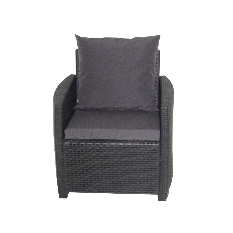 coussin d 39 assise de chaise ou de fauteuil gris zingu pour salon 121 x 55 cm leroy merlin. Black Bedroom Furniture Sets. Home Design Ideas