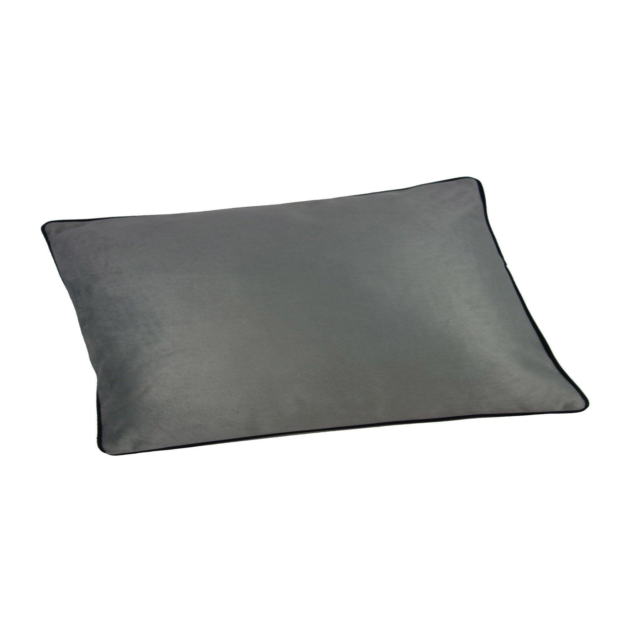 Coussin Bristol chic, gris l.50 x H.30 cm